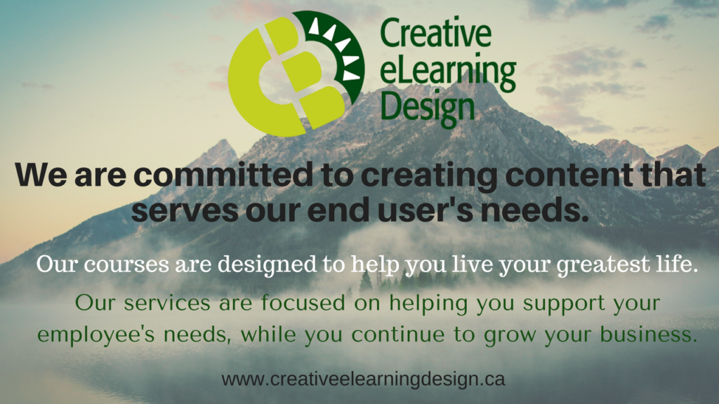 We are committed to creating content that serves our end user's needs.